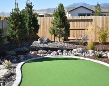 A landscaping contractor in Reno